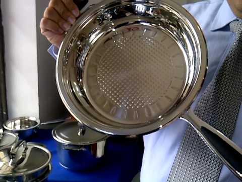 Ollas de cocina de acero quirurgico