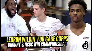 Bronny James WINS CHAMPIONSHIP w/ LeBron COACHING!!! Gabe Cupps Had LeBron Going CRAZY!!!!
