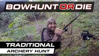 Traditional Bow Hunting Perfect Shot! - BHOD S09E26
