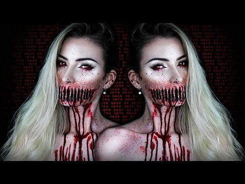 Ripped Mouth Demon HALLOWEEN SFX Makeup Tutorial | Simple Symphony ♡