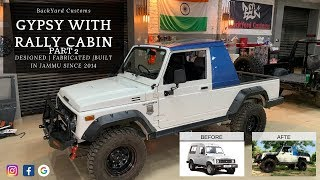 "BYC JAMMU | Rally Cabin Gypsy | Part-2 (MODIFIED GYPSY 2"" LIFT KIT with RIHNO PRO shocks)"