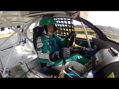 2012 NEZ rally cross III rd. round in Lithuania. IIIrd. heat race onboard. Division NEZ 1600.