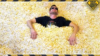We Filled a Pool with Popcorn