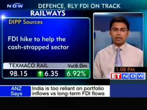 Railway related stocks rally on FDI proposal
