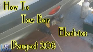 How to Tow Bar (hitch) Wiring Electrics Peugeot 206