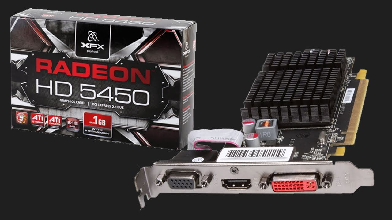 XFX ATI RADEON HD 5450 512MB (low profile) graphics card ...