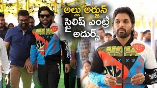 Allu Arjun Stylish Entry @ Panja Vaishnav Tej Debut Movie Launch