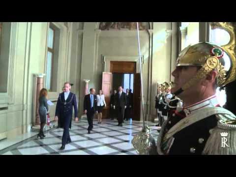 Incontro del Presidente Giorgio Napolitano con il Re Felipe VI e la Regina Letizia di Spagna
