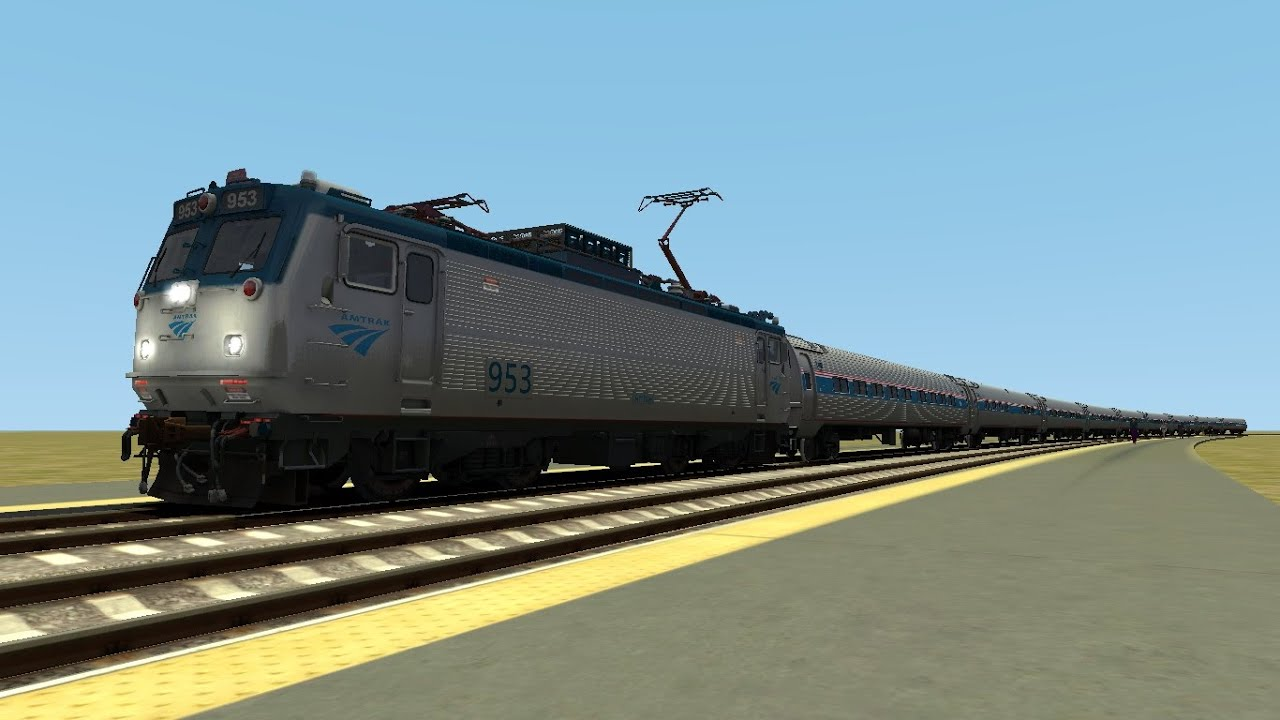 TS2015 HD: Amtrak EMD AEM-7DC 915 Leads Northeast Regional