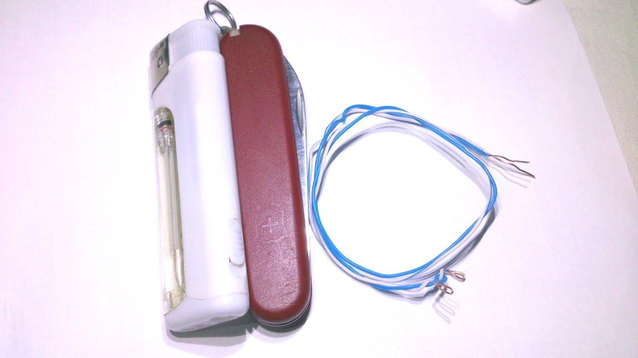 Прозвонка кабеля лампочкой и батарейкой. Как сделать прозвонку 17