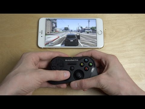 GTA 5 iPhone 6S Plus Steelseries Gamepad Moonlight Streaming Test!