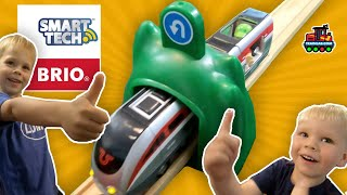 Woah! A smart Train?! BRIO Smart Engine Set with Action Tunnels is AWESOME! Today on the TrainLab!
