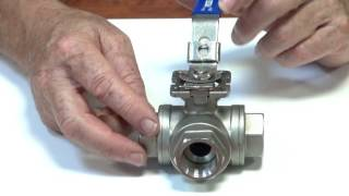 Series BLS - 3 way T port stainless steel ball valve