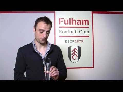 Dimitar Berbatov receives his Player of the Season Award