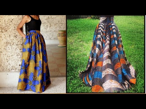 How to make an easy maxi skirt  the DIY pattern