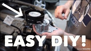 How to replace the supercharger belt tensioner on a Mercedes E55 AMG