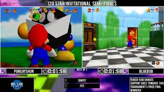 Puncayshun vs Bluebob | Semi-Final | GSA 120 Star Invitational 2018 | Super Mario 64