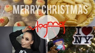 VLOGMAS 2016: Day 23, 24 and 25 (Baking Pie and Shortbread, CHRISTMAS) | lesleydoesmakeup