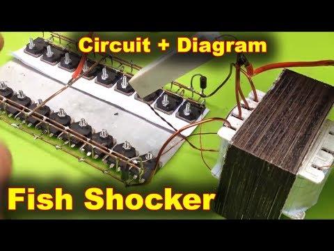 u0412u0438u0434u0435u043e Electrofisher Fish Shocker Electric 12 Volts to 220 Volts.