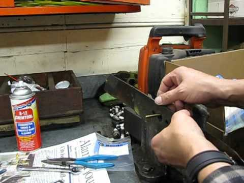 lawn mower repair pt 4. Oil Change & Blade Sharpening. Craftsman Tecumseh. Alameda Repair Shop