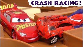 Hot Wheels Superheroes Crash Racing with Disney Pixar Cars 3 McQueen and Avengers 4 heroes