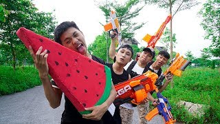 Battle Nerf War: Hero Chevalier Nerf Guns Bandit Ice Cream Super Car Nerf