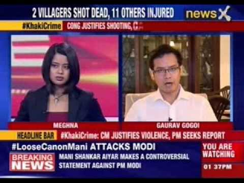 Assam CM Tarun Gogoi blames media for deaths in Assam