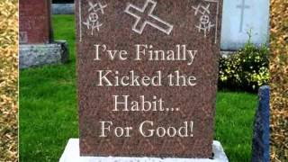 Tombstones With Strange Messages Written On Them