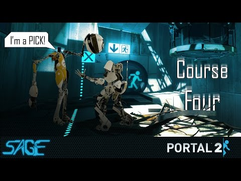 Portal 2 Co Op, Course 4 (going In Circles) video