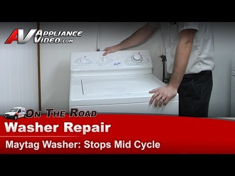 washing machine stops in middle of cycle