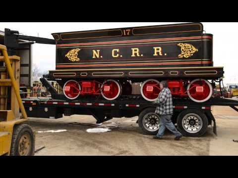 York 17 Steam Locomotive Transport Loading April 13, 2013