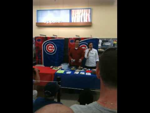 Darwin Barney cooking demo chicago cubs