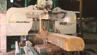 Wood-Mizer WB2000 wide band sawmill in action