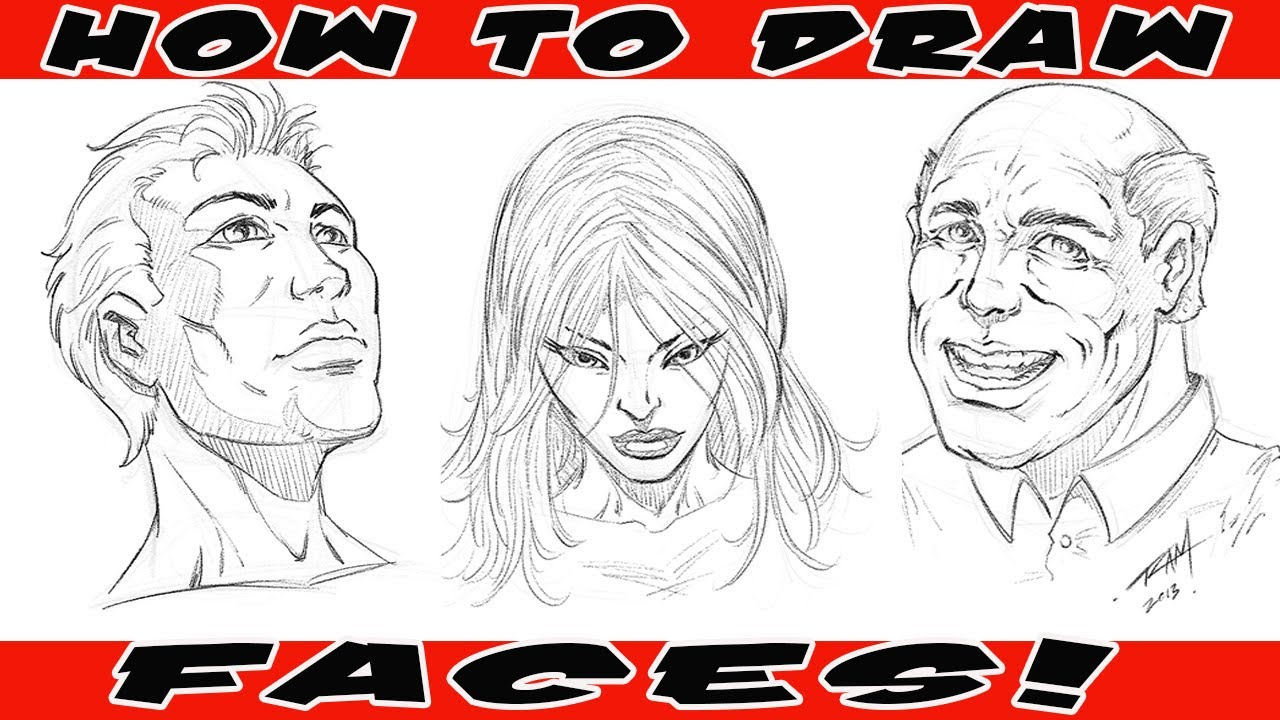 How to Draw Comic Book Faces