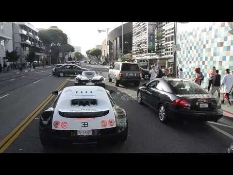 Pagani Huayra from Saudi Arabia & Bugatti Veyron Super Sport PUR BLANC in LA