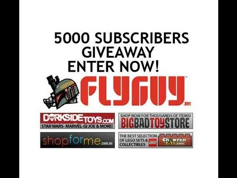 5k Subscribers Star Wars Massive Giveaway-How to Enter & Win! | www.flyguy.net