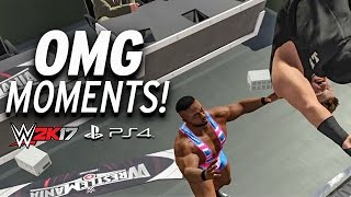 WWE 2K17 - All OMG MOMENTS! PS4 & XBOX ONE