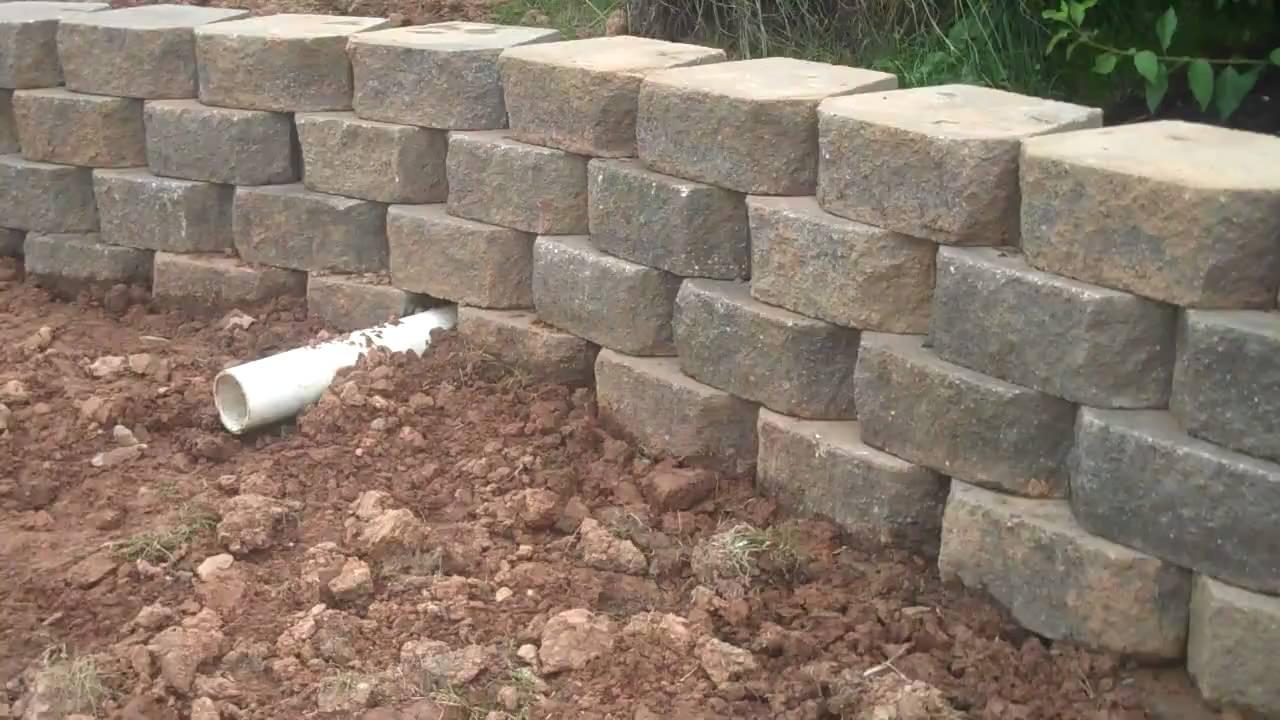 EP Henry Techno Bloc Pavers Retaining Wall Drainage PA