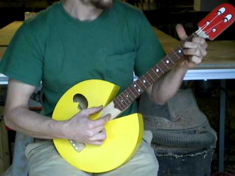 Pac Man ukulele by Celentano Woodworks