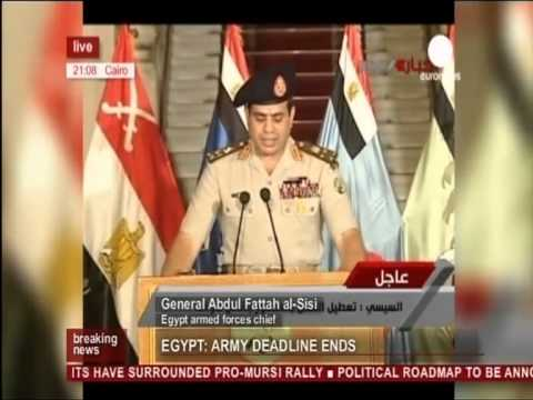 Egypt's Coup - General Abdul Fattah al Sisi (03.07.13)