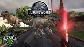 GTA V Jurassic World - T-Rex Attack