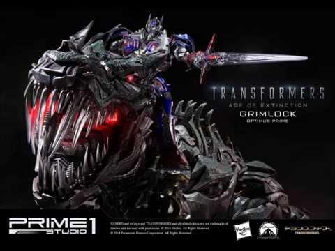 Prime 1 Studio Transformers Age of Extinction Grimlock & Optimus Prime