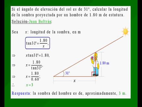 Problema de aplicación de razones trigonométricas
