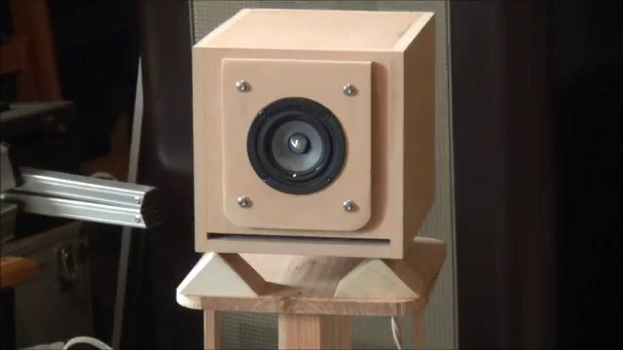 Mr. Takada's Enclosure-Tang Band 8cm Full-Range Speaker - YouTube