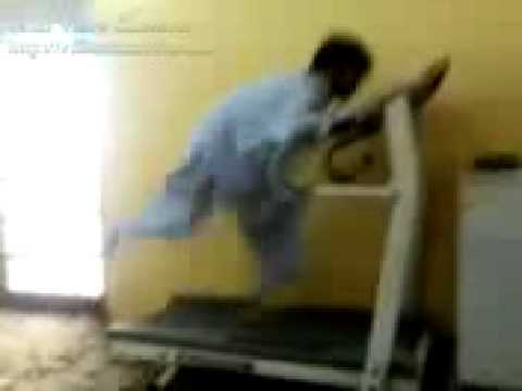 Funniest Treadmill accident ever
