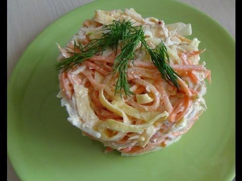 33. Куриный салат с омлетной лентой