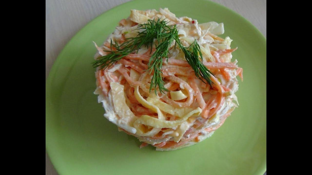 Салат с омлетом рецепт