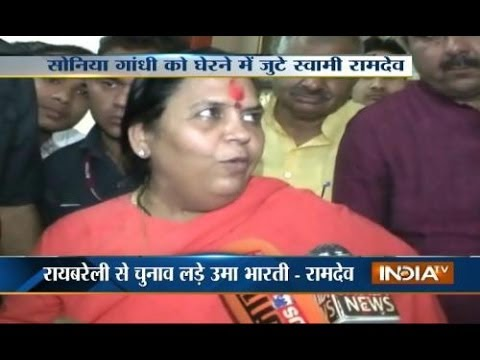 BJP to field Uma Bharti against Sonia Gandhi from Raebareli