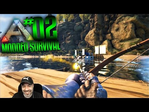 Ark Modded Survival Gameplay - S2 Ep 2 - ARK NPC BUSH PEOPLE PIRATES!