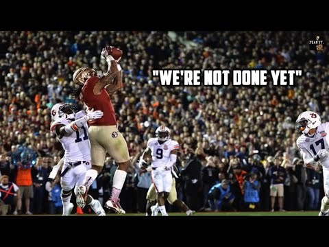 "Florida State Football: ""We're Not Done Yet"""